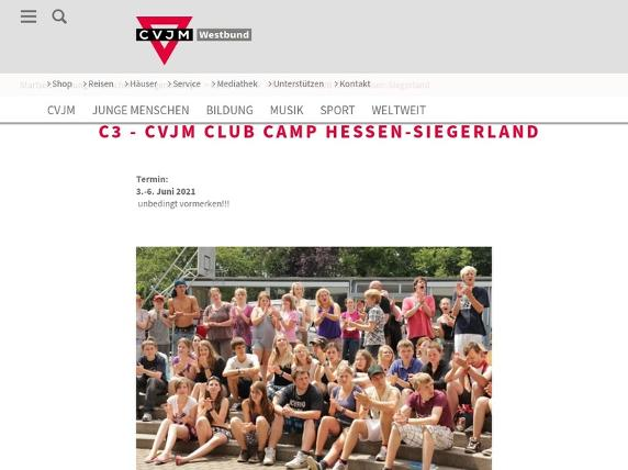 Screenshot von http://www.clubcamp-c3.de/